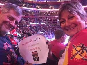 Diane attended Florida Panthers vs. Washington Capitals - NHL on Nov 7th 2019 via VetTix
