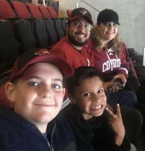 Jaime attended Arizona Coyotes vs. Columbus Blue Jackets - NHL on Nov 7th 2019 via VetTix
