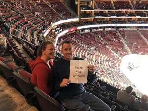Gregory attended Arizona Coyotes vs. Columbus Blue Jackets - NHL on Nov 7th 2019 via VetTix