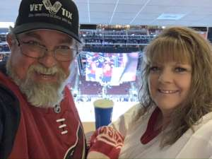 Harvey attended Arizona Coyotes vs. Columbus Blue Jackets - NHL on Nov 7th 2019 via VetTix