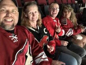 Edward attended Arizona Coyotes vs. Columbus Blue Jackets - NHL on Nov 7th 2019 via VetTix