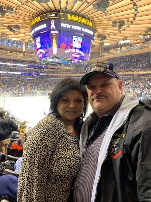 Daniel attended New York Rangers vs. Pittsburgh Penguins - NHL Veteran's Night ** Suite Tickets ** on Nov 12th 2019 via VetTix