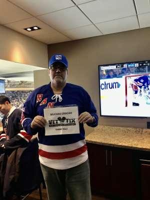 EDWIN attended New York Rangers vs. Pittsburgh Penguins - NHL Veteran's Night ** Suite Tickets ** on Nov 12th 2019 via VetTix