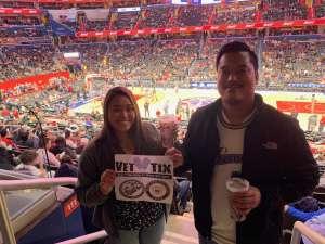 Sounida attended Washington Wizards vs. Cleveland Cavaliers - NBA on Nov 8th 2019 via VetTix