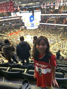 JessieLee attended Washington Wizards vs. Cleveland Cavaliers - NBA on Nov 8th 2019 via VetTix
