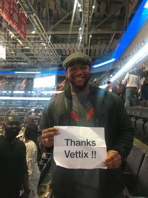 Page attended Washington Wizards vs. Cleveland Cavaliers - NBA on Nov 8th 2019 via VetTix
