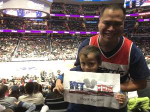 Ian attended Washington Wizards vs. Cleveland Cavaliers - NBA on Nov 8th 2019 via VetTix