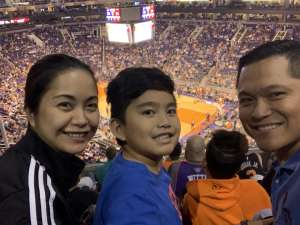 Erwin attended Phoenix Suns vs. Miami Heat - NBA on Nov 7th 2019 via VetTix