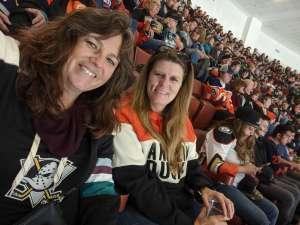 Christina attended Anaheim Ducks vs. Edmonton Oilers - NHL on Nov 10th 2019 via VetTix