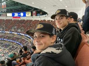 Cortez Family attended Anaheim Ducks vs. Edmonton Oilers - NHL on Nov 10th 2019 via VetTix