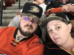 Megan attended Anaheim Ducks vs. Edmonton Oilers - NHL on Nov 10th 2019 via VetTix