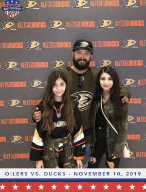 Michael attended Anaheim Ducks vs. Edmonton Oilers - NHL on Nov 10th 2019 via VetTix