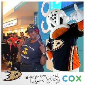LaSharon attended Anaheim Ducks vs. Edmonton Oilers - NHL on Nov 10th 2019 via VetTix