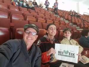 Steve attended Anaheim Ducks vs. Edmonton Oilers - NHL on Nov 10th 2019 via VetTix