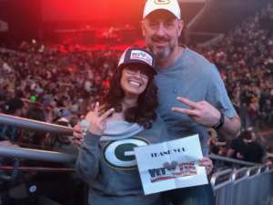 Mayra attended Brantley Gilbert - Fire't Up 2020 Tour on Feb 8th 2020 via VetTix