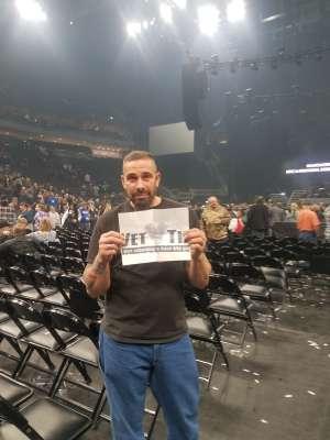 Jason O attended Brantley Gilbert - Fire't Up 2020 Tour on Feb 8th 2020 via VetTix