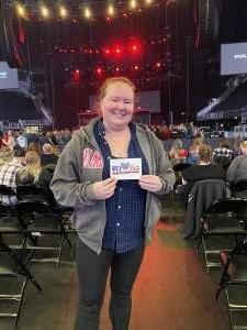 Kristen attended Brantley Gilbert - Fire't Up 2020 Tour on Feb 8th 2020 via VetTix