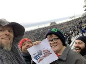 Click To Read More Feedback from University of Notre Dame Fighting Irish vs. Boston College - NCAA Football