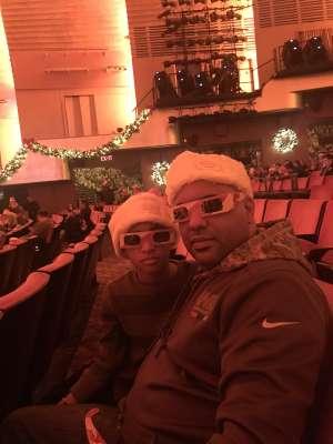 Edward attended Christmas Spectacular Starring the Radio City Rockettes on Nov 11th 2019 via VetTix