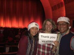Dewey  attended Christmas Spectacular Starring the Radio City Rockettes on Nov 11th 2019 via VetTix