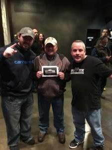Troy attended Joe Nichols at the District on Nov 30th 2019 via VetTix