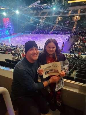 Joshua attended Disney on Ice Presents Celebrate Memories on Jan 2nd 2020 via VetTix