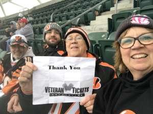 Michael attended Cincinnati Bengals vs. New York Jets - NFL on Dec 1st 2019 via VetTix
