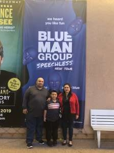 mark attended Blue Man Group: Speechless World Tour - Sunday 6: 30 PM Performance on Nov 17th 2019 via VetTix