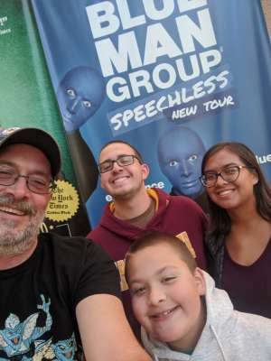 William attended Blue Man Group: Speechless World Tour - Sunday 6: 30 PM Performance on Nov 17th 2019 via VetTix