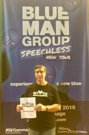 Salvatore attended Blue Man Group: Speechless World Tour - Sunday 6: 30 PM Performance on Nov 17th 2019 via VetTix