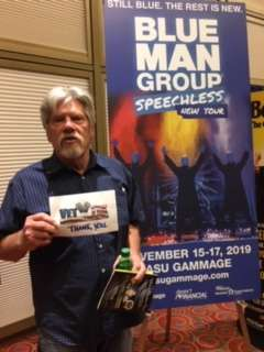 David attended Blue Man Group: Speechless World Tour - Sunday 6: 30 PM Performance on Nov 17th 2019 via VetTix