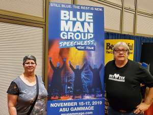 Patrick attended Blue Man Group: Speechless World Tour - Sunday 6: 30 PM Performance on Nov 17th 2019 via VetTix