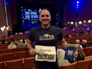 Bryan attended Blue Man Group: Speechless World Tour - Sunday 6: 30 PM Performance on Nov 17th 2019 via VetTix