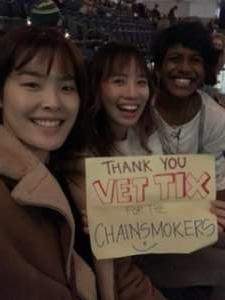 Darren attended The Chainsmokers/5 Seconds of Summer/lennon Stella: World War Joy Tour on Dec 3rd 2019 via VetTix