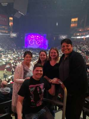 A Garza attended Cher: Here We Go Again Tour on Nov 23rd 2019 via VetTix
