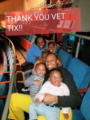 L G attended Disney Jr. Holiday Party on Nov 18th 2019 via VetTix