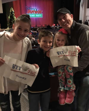 Michael attended Disney Jr. Holiday Party on Nov 18th 2019 via VetTix