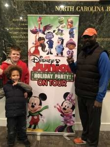Reco attended Disney Jr. Holiday Party on Nov 18th 2019 via VetTix