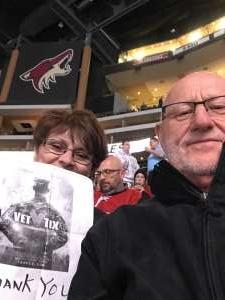 dean attended Arizona Coyotes vs. Toronto Maple Leafs - NHL on Nov 21st 2019 via VetTix