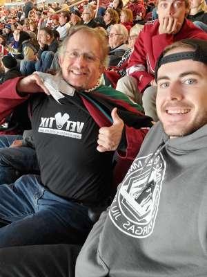 Charles attended Arizona Coyotes vs. Toronto Maple Leafs - NHL on Nov 21st 2019 via VetTix