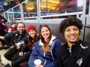 Dominic attended Arizona Coyotes vs. Toronto Maple Leafs - NHL on Nov 21st 2019 via VetTix