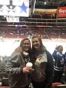 Kevyn attended Arizona Coyotes vs. Toronto Maple Leafs - NHL on Nov 21st 2019 via VetTix