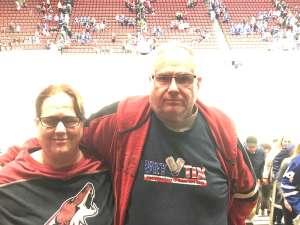 Terry attended Arizona Coyotes vs. Toronto Maple Leafs - NHL on Nov 21st 2019 via VetTix