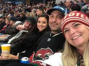 Aaron attended Arizona Coyotes vs. Toronto Maple Leafs - NHL on Nov 21st 2019 via VetTix