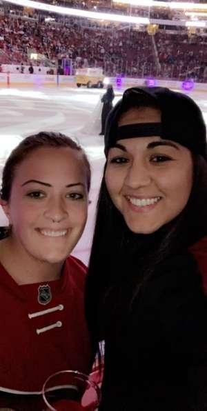 Jessica attended Arizona Coyotes vs. Toronto Maple Leafs - NHL on Nov 21st 2019 via VetTix
