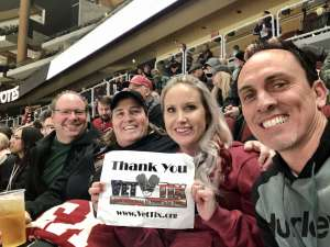 April attended Arizona Coyotes vs. Toronto Maple Leafs - NHL on Nov 21st 2019 via VetTix