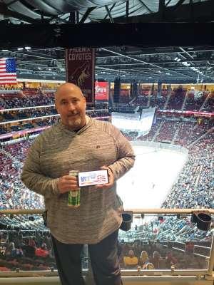 Tom attended Arizona Coyotes vs. Toronto Maple Leafs - NHL on Nov 21st 2019 via VetTix