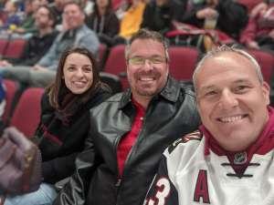 Mikel attended Arizona Coyotes vs. Toronto Maple Leafs - NHL on Nov 21st 2019 via VetTix