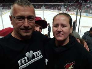 Christopher attended Arizona Coyotes vs. Toronto Maple Leafs - NHL on Nov 21st 2019 via VetTix