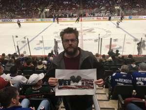 Sean attended Arizona Coyotes vs. Toronto Maple Leafs - NHL on Nov 21st 2019 via VetTix